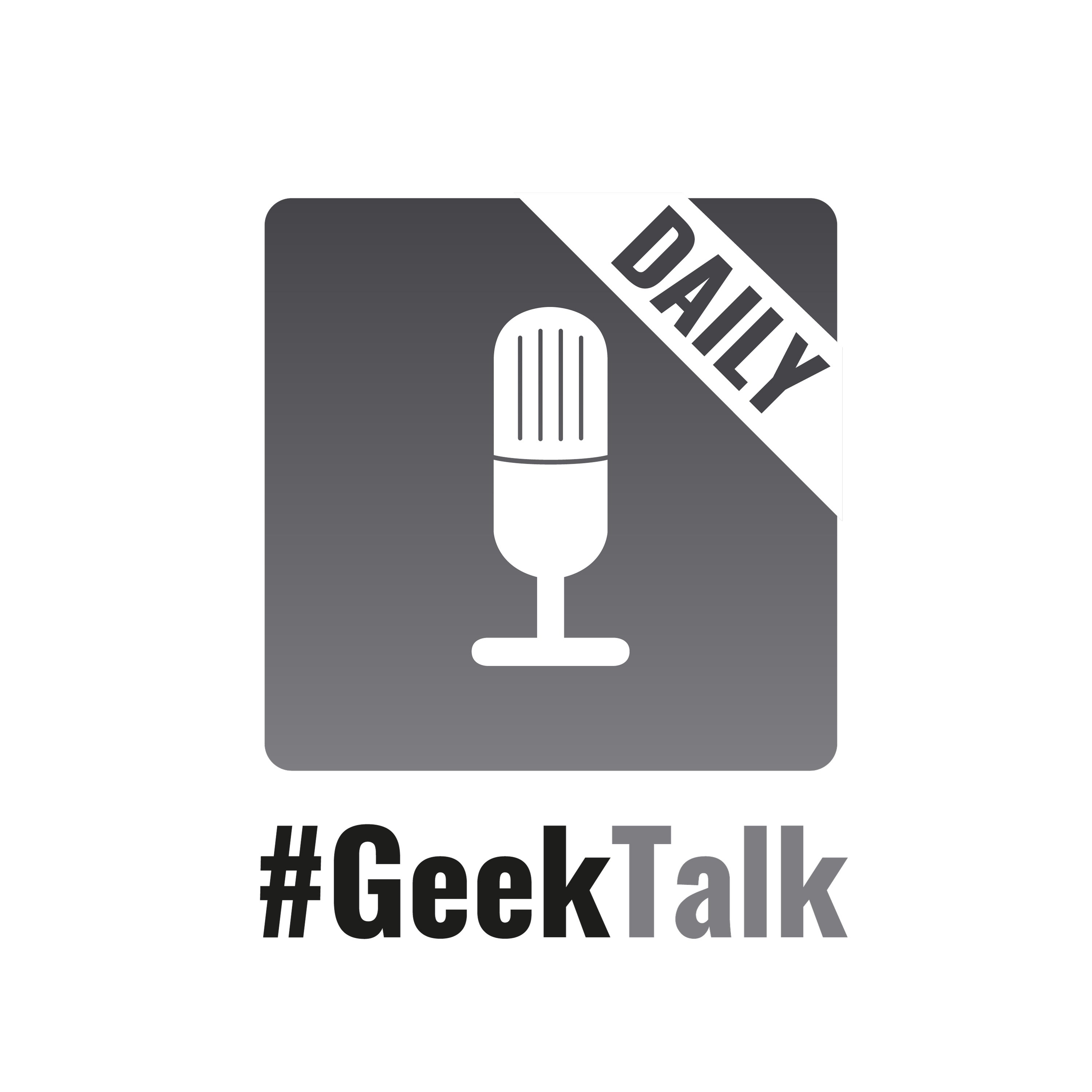 #GeekTalk Daily Podcast Logo Gross